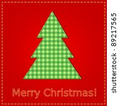 christmas card with sewing... | Shutterstock .eps vector #89217565