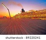 Luxury Cruise Ship At Yokohama...