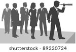 business person uses telescope... | Shutterstock .eps vector #89220724