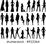fashion girls silhouette | Shutterstock .eps vector #8922364