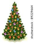 christmas tree | Shutterstock .eps vector #89229664