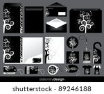 Stationery set design - stock vector