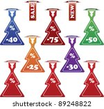 christmas collection of sale or ...   Shutterstock .eps vector #89248822