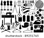 tailoring equipment | Shutterstock .eps vector #89251765