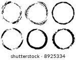 vector assorted grunge circles | Shutterstock .eps vector #8925334