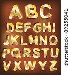 3d gold alphabet. vector design ...   Shutterstock .eps vector #89255041