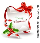 christmas greeting card with... | Shutterstock .eps vector #89261278