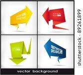 set of multicolored arrows in... | Shutterstock .eps vector #89261899