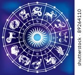 horoscope circle | Shutterstock .eps vector #89264110