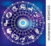 horoscope circle | Shutterstock .eps vector #89264110