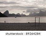 Mountains and sky in Rio de Janeiro area - stock photo