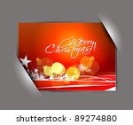 greetings card for holiday with ... | Shutterstock .eps vector #89274880