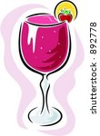 strawberry cocktail. vector... | Shutterstock .eps vector #892778
