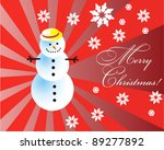 vector christmas card with... | Shutterstock .eps vector #89277892