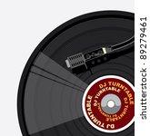 vintage vinyl player | Shutterstock .eps vector #89279461