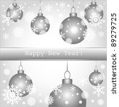 happy new year greeting card or ... | Shutterstock .eps vector #89279725