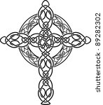knotted celtic cross stencil.... | Shutterstock .eps vector #89282302