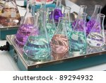 Erlenmeyer flask - stock photo
