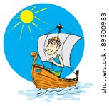 playful vector drawing on... | Shutterstock .eps vector #89300983