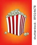 pop corn orange vector... | Shutterstock .eps vector #89314678