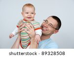 happy father with a baby | Shutterstock . vector #89328508