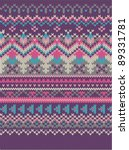 pink knitted wool pattern... | Shutterstock .eps vector #89331781