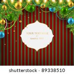 christmas background with... | Shutterstock .eps vector #89338510