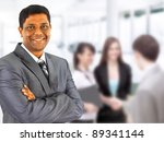 a happy black business man with ... | Shutterstock . vector #89341144