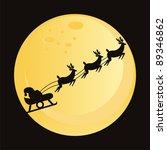 santa claus with deers... | Shutterstock .eps vector #89346862