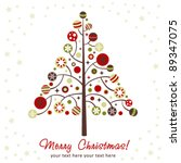 stylized design christmas tree... | Shutterstock .eps vector #89347075