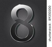 glass  numbers on metal... | Shutterstock .eps vector #89350300