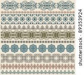 vector ten seamless vintage... | Shutterstock .eps vector #89353924