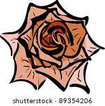 sketch of a flower garden like... | Shutterstock .eps vector #89354206