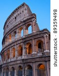 The Colosseum, also called Flavian Amphitheatre, in Rome, Italy - stock photo