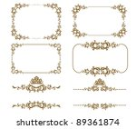 vector set of decorative... | Shutterstock .eps vector #89361874