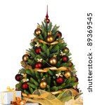 decorated christmas tree on... | Shutterstock . vector #89369545