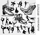 figure skating doodles | Shutterstock .eps vector #89370172