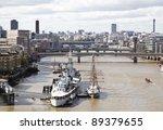 HMS Belfast - stock photo
