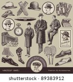 vector set  gentlemen's fashion ... | Shutterstock .eps vector #89383912