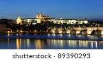 the prague castle and the... | Shutterstock . vector #89390293