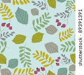 vector botanical pattern | Shutterstock .eps vector #89391391