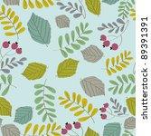 vector botanical pattern | Shutterstock .eps vector #89391391