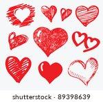 vector illustration of red... | Shutterstock .eps vector #89398639