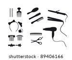shadows barber | Shutterstock .eps vector #89406166