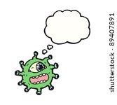 alien with many eyes cartoon | Shutterstock .eps vector #89407891