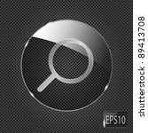 glass search button icon on... | Shutterstock .eps vector #89413708