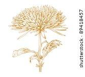 vector chrysanthemum flower in... | Shutterstock .eps vector #89418457