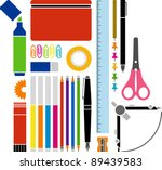 vectorized office or school... | Shutterstock .eps vector #89439583