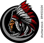 graphic native american indian... | Shutterstock .eps vector #89453104