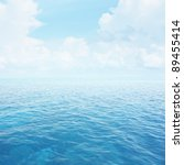 blue clear sea with waves and... | Shutterstock . vector #89455414